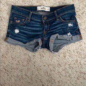 Dark wash hollister shorts